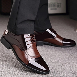 Used Brand new men brown formal shoes size 46 in Dubai, UAE