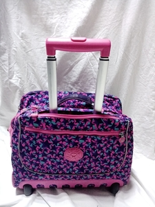 Used Kipling School Trolley Pink/Purple in Dubai, UAE