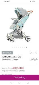 Used Teknum stroller with 2 bags in Dubai, UAE