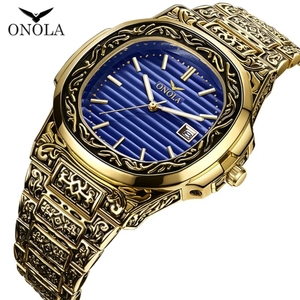 Used Brand new Onola golden luxury watch in Dubai, UAE