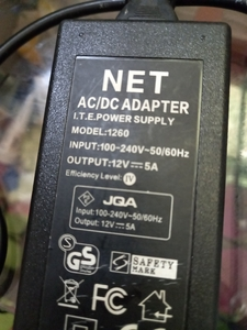 Used AC/DC Power Adapter 12v out put 5A in Dubai, UAE