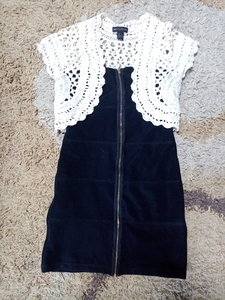 Used Strapless Dress with Knitted Blazer in Dubai, UAE