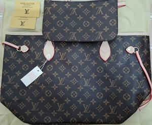 Used LV Neverfull Bag w/ pouch (copy) in Dubai, UAE