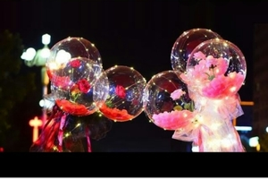 Used Led balloon rose bouquet in Dubai, UAE