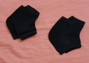 Used Heel care socks in black, 2 pairs ! in Dubai, UAE