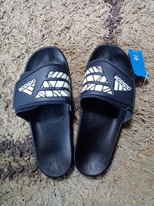Used Adidas Slippers Size 43-45 in Dubai, UAE