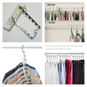 Used Space saving stainless steel hanger 4 pc in Dubai, UAE