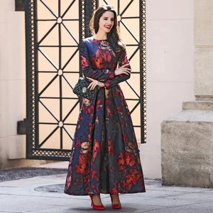 Used Brand new elegant jacquard maxi dress in Dubai, UAE