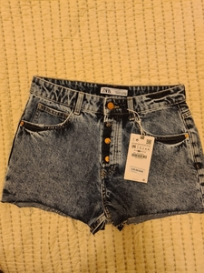 Used New Zara denim shorts size S in Dubai, UAE