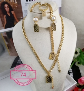 Used Necklace set stainless  Steel good quali in Dubai, UAE