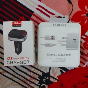 Used Samsung Charger + Car MP3 & Charger in Dubai, UAE