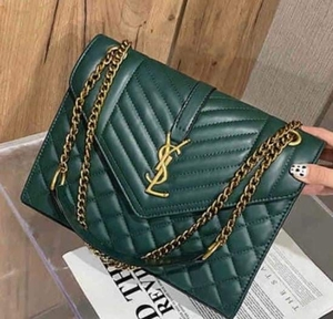 Used YSL FLAP SLING BAG LARGE SIZE GREEN in Dubai, UAE