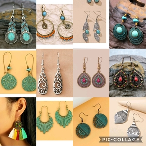Used Earrings - new 12 pcs in Dubai, UAE