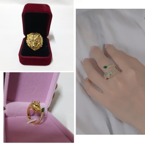 Used Lion & Leopard Head Ring (2 Pieces Ring) in Dubai, UAE