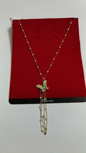 Used Butterfly necklace with bangle in Dubai, UAE