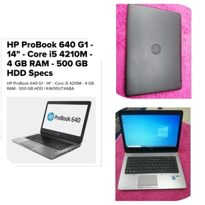 Used HP ProBook 640 G1 - i5 4th Gen Laptop in Dubai, UAE