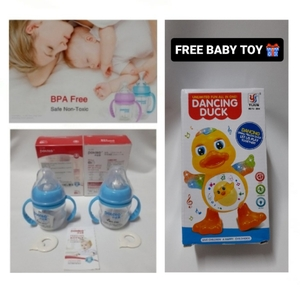 Used BABY Feeding 2 Bottles with FREE TOY 🎁 in Dubai, UAE