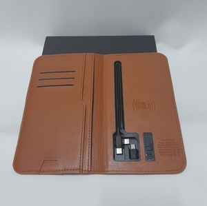 Used Leather charging wallet NEW in Dubai, UAE