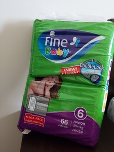 Used Fine baby diapers no 6 new pack in Dubai, UAE