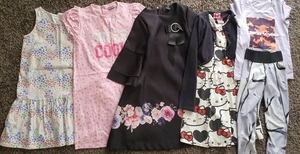 Used Bundle clothes for girl (7-8) in Dubai, UAE