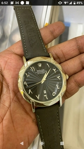 Used Rolex leatherstrap Watch stainless steel in Dubai, UAE