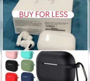 Used APPLE AIRPODS PRO WITH ACCESSORIES COVER in Dubai, UAE