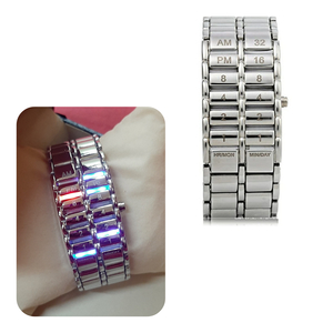 Used LED Binary watch, silver ! in Dubai, UAE