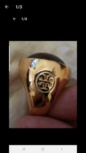 Used Authentic Tory Burch Ring for Men Size 7 in Dubai, UAE