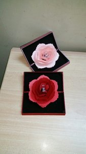 Used Rose Flower Ring Holder Red & Pink(2pcs) in Dubai, UAE